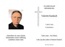 Wir trauen um Valentin Kardosch