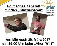 Vorankündigung Stachelbären 29.03.2017